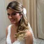 Cabelo noiva lateral