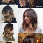 Corte ombre hair medio